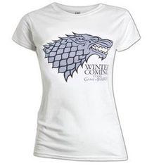 GAME OF THRONES - STARK LOGO LADYFIT WHITE T-shirt #got #merchandise