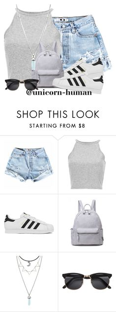 """Untitled #1956"" by unicorn-human ❤ liked on Polyvore featuring adidas"