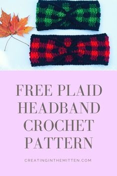 Free #plaid crochet headband pattern for beginners!