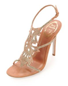 Crystal+Halter+Suede+Sandal+by+Rene+Caovilla+at+Neiman+Marcus.