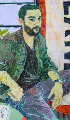 Chris Abbott, 2015 by Hope Gangloff Acrylic on canvas Art And Illustration, Figure Painting, Painting & Drawing, Richard Burlet, Broad Art Museum, Hope Gangloff, In Loco, Figurative Kunst, Collages