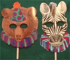 If you are thinking about having a photo booth at your circus themed party these masks are excellent. What a great way to add some fun and excitement to your party!