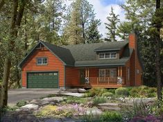 Beaver Homes and Cottages - Mapleton House Plans One Story, One Story Homes, New House Plans, Beaver Homes And Cottages, Exterior Rendering, House Blueprints, Home Pictures, Home And Family, New Homes