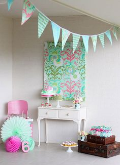 Flower Backdrop for Birthday Party