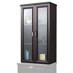 Realspace(R) Magellan Collection 2-Shelf Hutch With Doors, Espresso