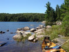 Algonquin Provincial Park, Canada. Spent a week canoeing and portaging from lake to beautiful lake.