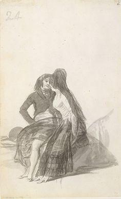 Goya (Francisco de Goya y Lucientes) | Lovers Sitting on a Rock | The Met