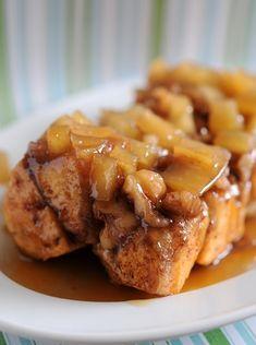 Apple Walnut Cinnamon-Roll Loaf