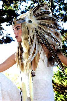 Items similar to Custom Headdress - Desert Queen Feather Headdress on Etsy