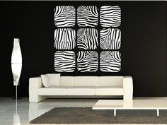Zebra Stripes Vinyl Decal Wall Art Print by EmpireCityStudios