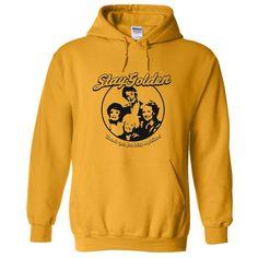 Stay Golden Girls Funny 1980s Funny VINTAGE MILF HOODIE SWEATSHIRT Gold M