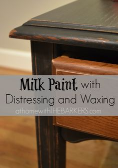 Milk painted and distressed table