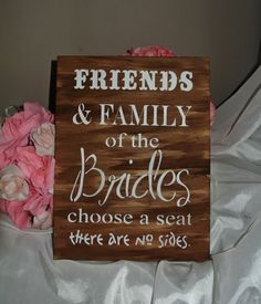 Same Sex Marriage Wedding Sign family and by FairytaleDecorDesign, $27.00