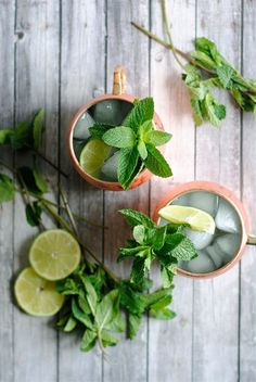 Ultra refreshing Moscow Mule cocktail recipe.
