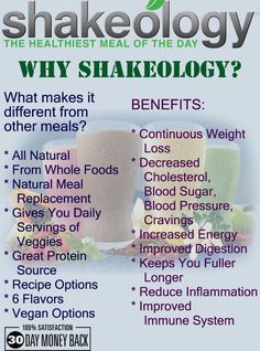 Why Shakeology? Well here you can find several of the benefits of drinking Shakeology daily and how they are different from other meals and diets. For more information contact Courtney Keeling by email: cmkeel8@gmail.com or on Facebook: Facebook.com/cmkeel02