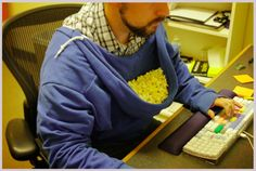 Even better than a snuggie-- a munchie pouch.