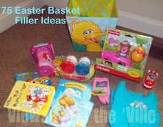 75 Easter basket filler ideas for all ages.