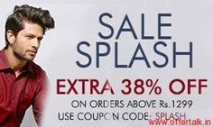 Sale Splash 60%   Extra 38% Off on Orders above Rs.1299