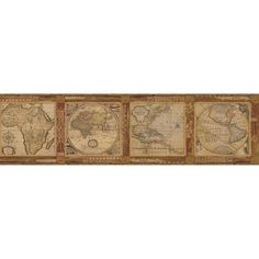 Chesapeake 6 in. Oliver Burnt Sienna Map Border-MAN01832B - The Home Depot
