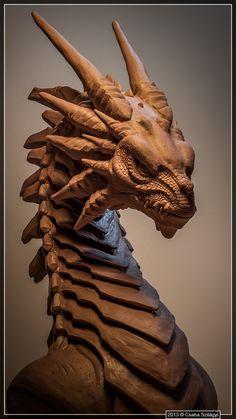 Dragon Bust, Csaba Szilagyi on ArtStation at https://www.artstation.com/artwork/8vZan