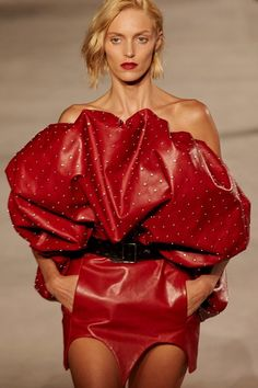 Youth and pop culture provocateurs since Fearless fashion, music, art, film, politics and ideas from today's bleeding edge. Fashion 101, High Fashion, Look Disco, Anja Rubik, Vintage Couture, Fashion Sketches, Leather Fashion, Lady In Red, Saint Laurent