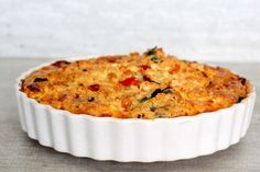 Spinazie Feta Quiche! Feel Good Food, Love Food, Low Carb Recipes, Cooking Recipes, Healthy Recipes, Healthy Food, Shrimp And Quinoa, Keto Dinner, Macaroni And Cheese