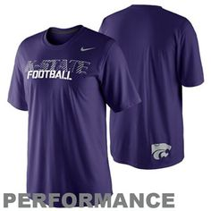 Nike Kansas State Wildcats Youth Legend Conference Performance Long Sleeve T-Shirt - Purple, $24.95