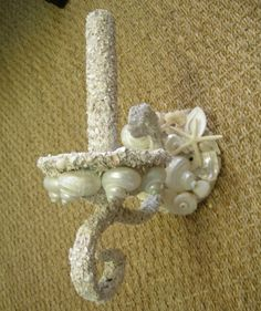Elegant Shells, Seashell Decor. — One Armed Lighted Sconce