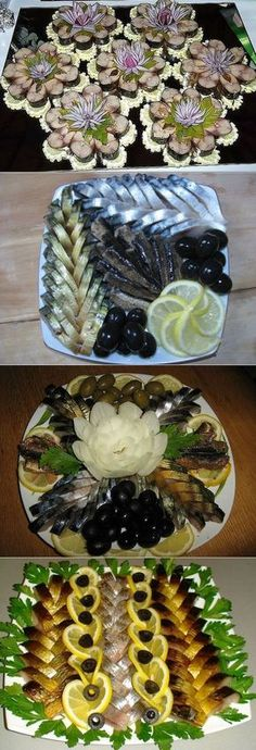 Beautiful Pictures Of Food And Fruit Arts Food Design, Design Design, Food Carving, Shellfish Recipes, Food Garnishes, Snacks Für Party, Food Decoration, Fruit Art, Russian Recipes