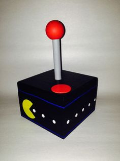 Pacman Keepsake Joystick Box. One of my all time favorite games was and still is Pac-Man.  Eating as many of those white dots while trying to stay away from those ghosts seems simple, but I don't think I ever got past level 4