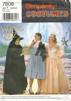 Simplicity 7808 Wizard of Oz costumes