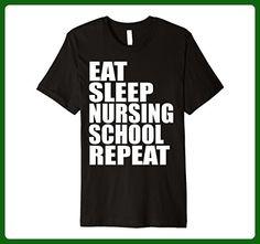 Mens Eat Sleep Nursing School Repeat Nurse Graduation T Shirt  Small Black - Careers professions shirts (*Amazon Partner-Link)