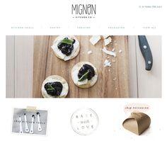 Mignon Kitchen Co web design inspiration