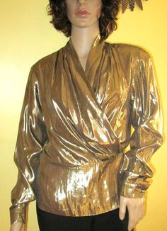 MAKE AN OFFER  Vintage Evan Picone Gold Lame by MISSVINTAGE5000