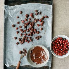 Chocolate-Covered Cognac Cranberries