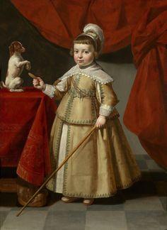 1634 Paulus Moreelse (Dutch artist, 1571-1638) Moreelse Boy with a Dog