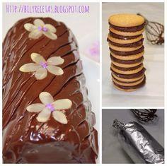 Hoy os traigo otra receta de las sencillas, fáciles pero muy ricas - un delicioso pastel de galletas con rell...