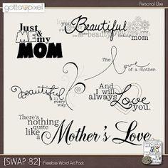 Mom word art for digital scrapbook freebie good till 5-20-12 digiscrap