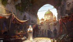 Fantasy City, Fantasy Castle, Fantasy Places, High Fantasy, Medieval Fantasy, Fantasy World, Fantasy Art Landscapes, Fantasy Landscape, Landscape Art