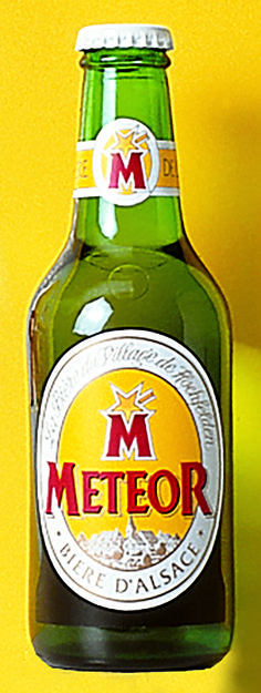 Météor, Bière d'Alsace, Conception logotype et packaging 1995© Style Marque / Markcom