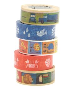 Look at this Five-Piece Playtime Washi Tape Set on #zulily today!