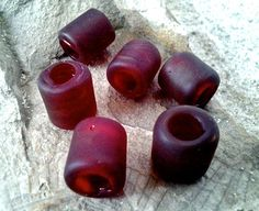 Funky Red Sea Glass Seaglass Beach Glass Beads To by PrismsOfLight, $4.95