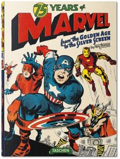"""75 years of Marvel Comics In celebration of Marvel's 75th anniversary, TASCHEN presents a magnum opus of the most influential comic book publisher today, with an inside look not only at its celebrated characters, but also at the """"bullpen"""" of architects Stan """"the Man"""" Lee, Jack """"King"""" Kirby,Steve Ditko, John Romita, John Buscema, Marie Severin, and countless others. http://tomatovisiontv.wix.com/tomatovision2#!comics/cfvg"""