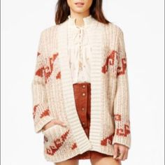 Free people tribal knit cardigan szS NWT Comfy and stylish cardigan Free People Sweaters Cardigans