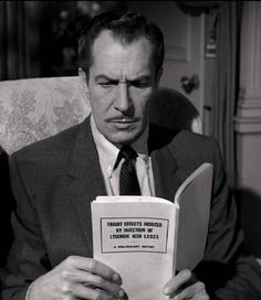 The one and only Vincent Price. Could this be from The Tingler?