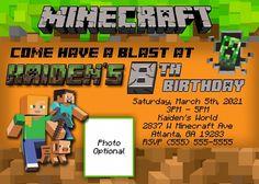Minecraft Birthday Invitation Template Ideas For Minecraft within Minecraft Birthday Card Template - Sample Professional Templates Minecraft Party Invitations, Minecraft Birthday Invitations, Christmas Party Invitation Template, Birthday Party Invitations Free, Printable Invitation Templates, Birthday Card Template, Birthday Cards, Invitation Wording, Printable Party