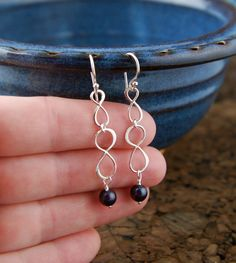 Long sterling silver infinity and pearl by jersey608jewelry, $28.00