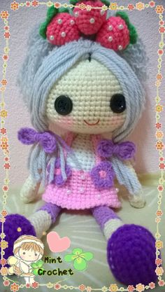 Strawberry Shortcake Pattern by MintCrochet on Etsy