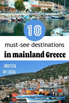 10 must-see destinations in mainland Greece - Greek Travel Family Greek Town, Greece Travel, Where To Go, Cool Places To Visit, Family Travel, Travel Destinations, Europe, Beach, Travelling