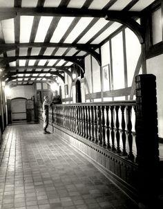 Coe Hall, Planting Fields, Oyster Bay, New York: hallway, circa 1961 (first campus of Stony Brook University)